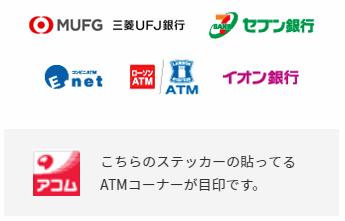 アコムの提携ATM