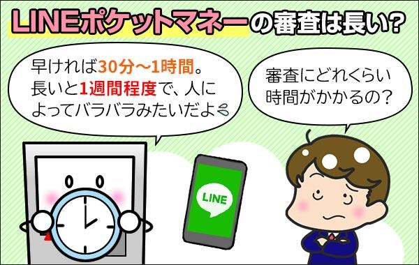 LINEポケットマネー_審査_時間_長い