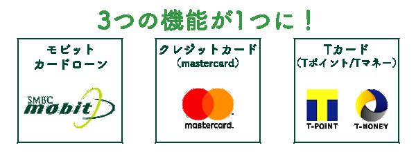 モビットのローンカード、クレジットカード(マスターカード)、Tカード